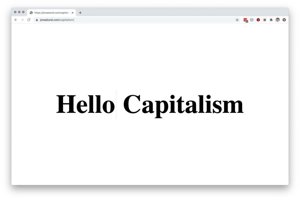 Jonas Lund Hello Capitalism