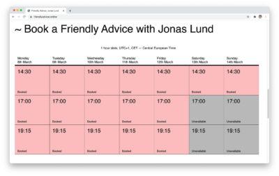 Jonas Lund Friendly Advice